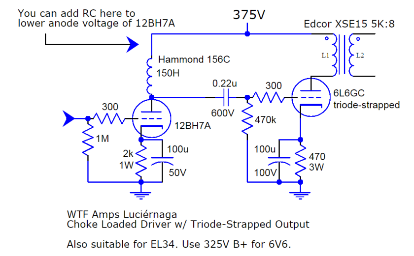 luciernaga amp circuit