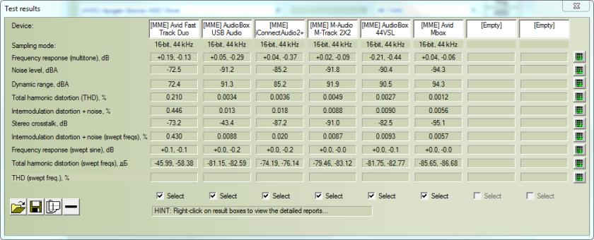 RMAA interfaces screenshot