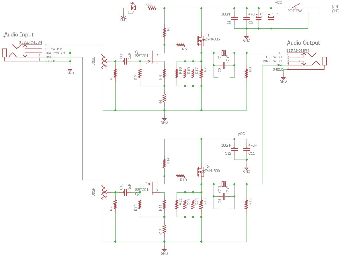 Diy Headphone Amplifier Schematic Electrical Wiring Diagrams Np100v12 12au7 Ecc82 Tube Irf510 Mosfet Pocket Class A Amp By Xrk971 Audio Primate Stereo