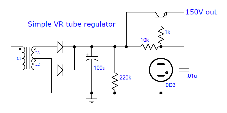 VR and transistor regulator