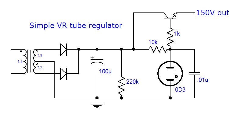 VR and transistor regulator